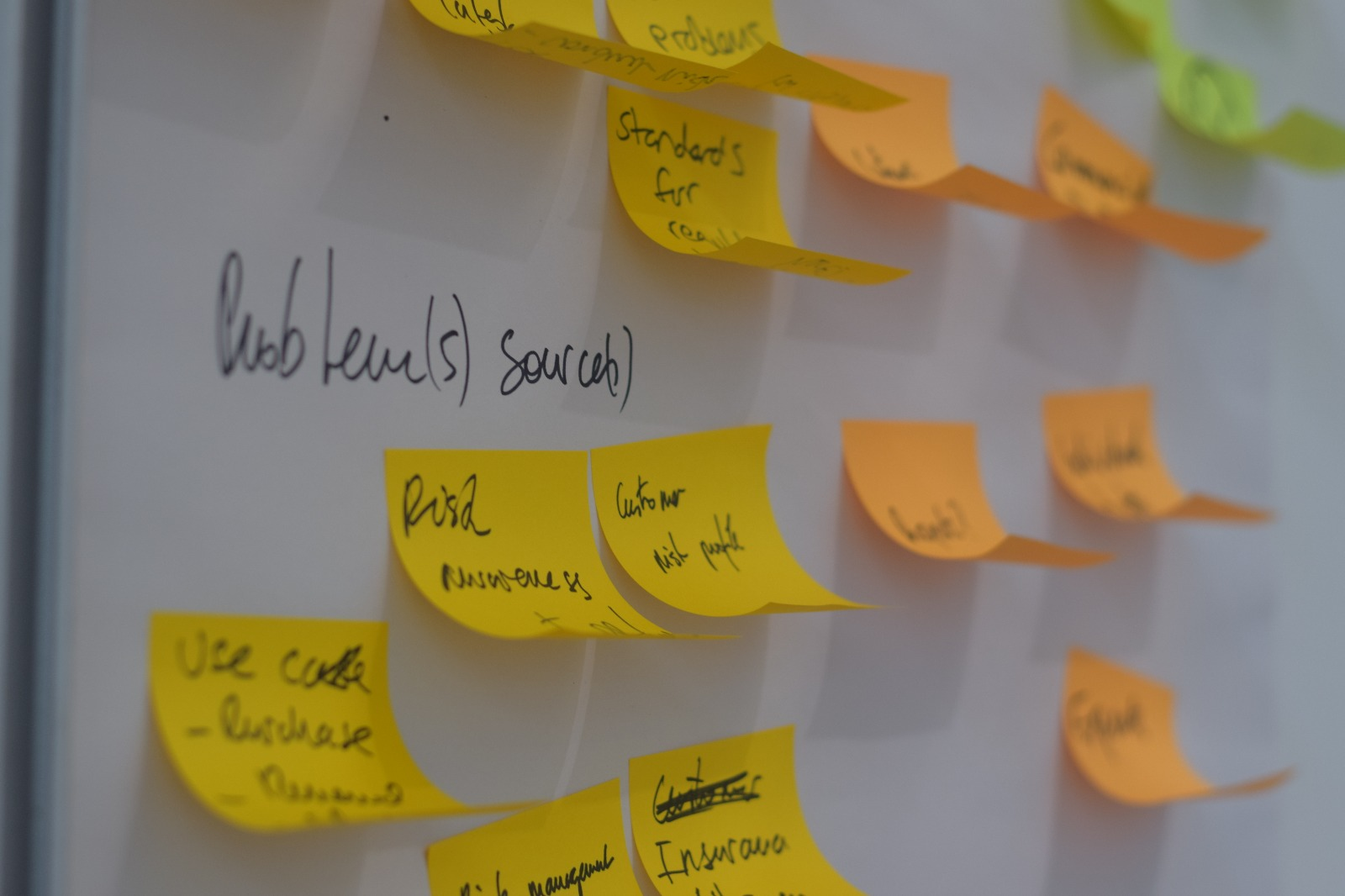 The problems facing brokers post-it notes