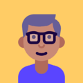 Icon of men with glasses and gray hair