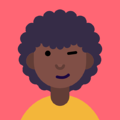 Icon of afro american woman winking