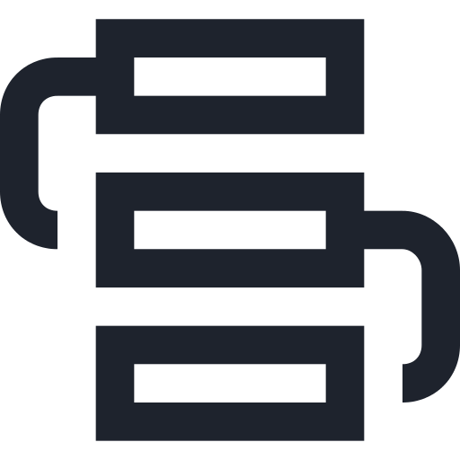 icon of 3 linked rectangles