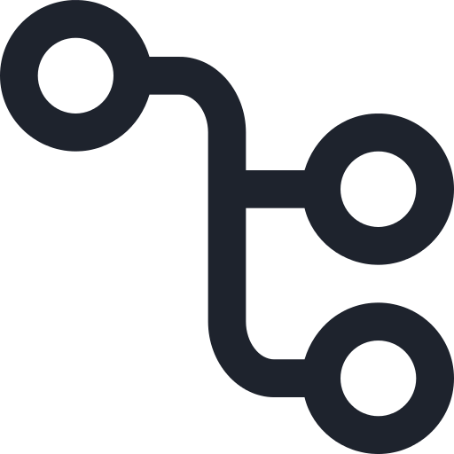 icon with 3 linked circles